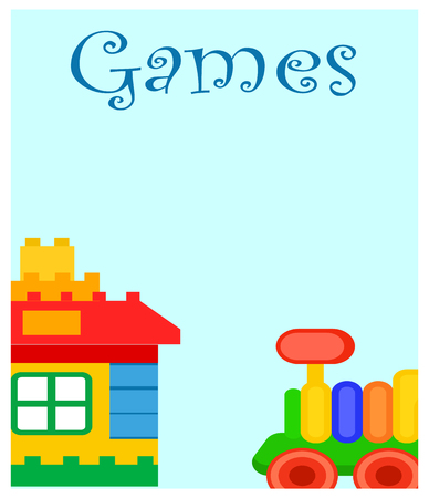 Games for Children-poster met huis en trein