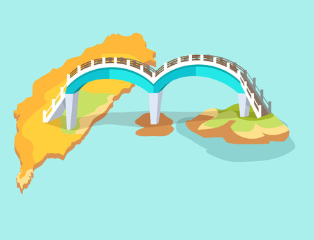 Dragon Arched Bridge in Taiwan Hand Drawn Icon