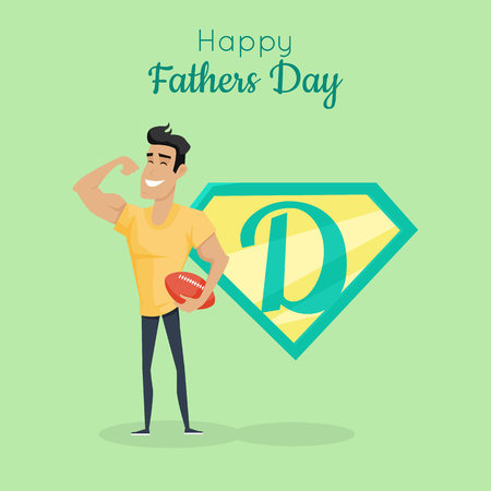 Happy Fathers day poster