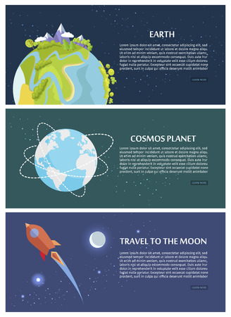 Earth planet travelling to the moon concept