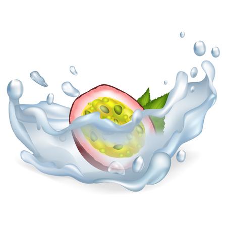 깨끗한 물에 이국적인 열정이 큰 밝아진 과일