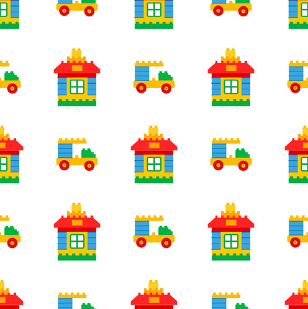 Jouets pour enfants pour le modèle sans couture de temps de jeu Banque d'images - 87289172