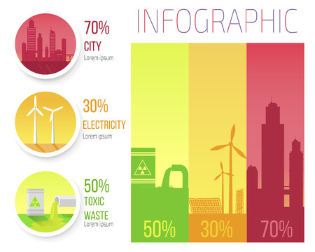 City Electricity Toxic Waste Infographic Poster