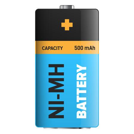 Big Ultra Longlife Battery Isolated Illustration