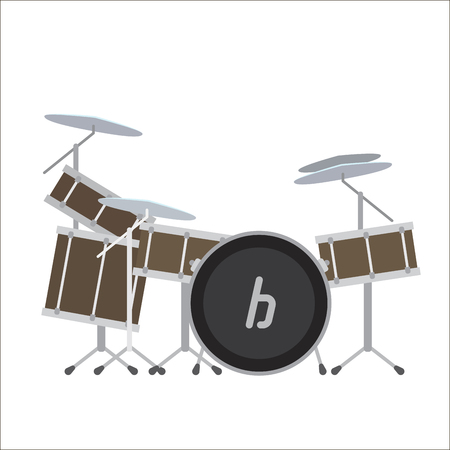 audio mixer: Electronic Drum System Vector Illustration.