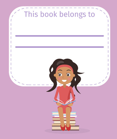 Cover with Place for Signing and Girl Illustration