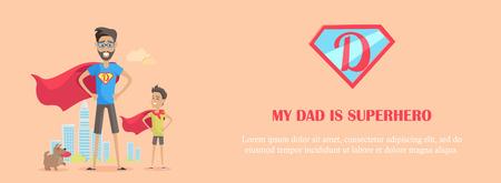 Mio padre è un supereroe Vettoriali