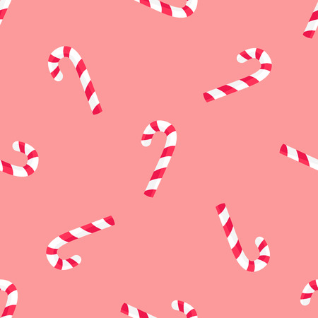 Striped Candy Stick Seamless Pattern Vector Paper Illustration