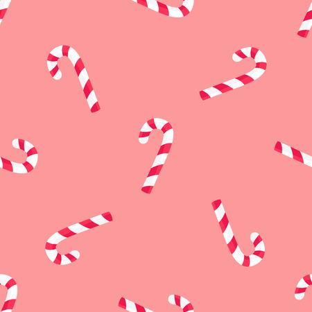 Striped Candy Stick Seamless Pattern Vector Paper Ilustração