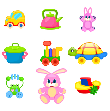 Colorful Toys for Preschoolers Illustration