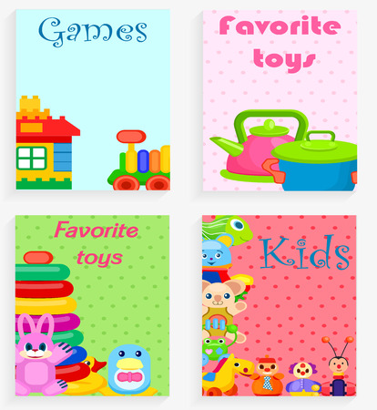 Kids Favorite Toys and Games Colorful Poster.
