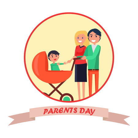 Poster with Inscription Dedicated to Parents Day Фото со стока - 87470184