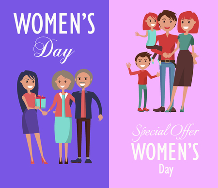 Posters Dedicated to Womens Day Celebration