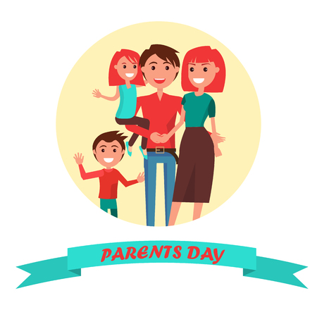 Parents Day Poster with Circle Inscription