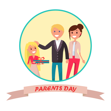 Parents Day Banner with Colourful Inscription