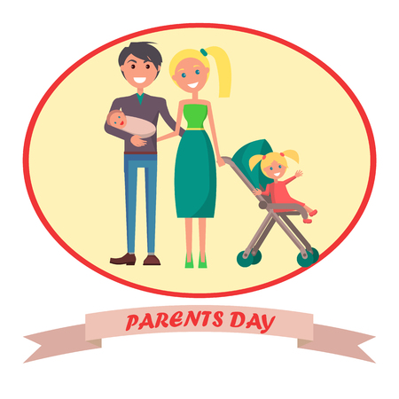Banner Devoted to Parent s Day with Inscription Фото со стока - 87470191