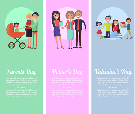Poster about Parents , Mother s, Valentine s Days Stock Vector - 87470192
