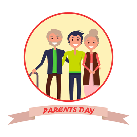 Parents Day Poster with Circle Inscription 版權商用圖片 - 87930235