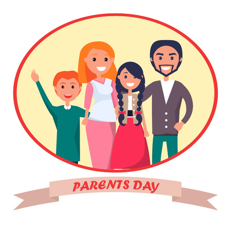 Poster Devoted to Parents Day Celebration