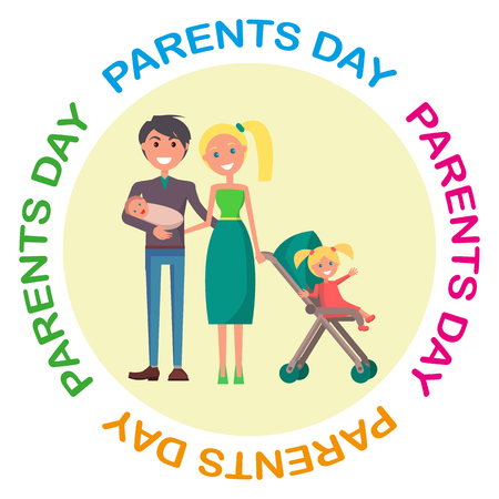 Banner Devoted to Parent s Day with Inscription Illustration