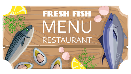 Fresh Fish Menu Restaurant with Sea Products