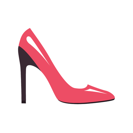 Stylish Pink Stilleto Shoe Isolated Illustration