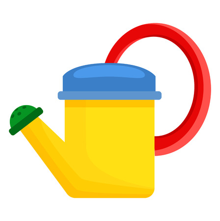 Yellow Toy Watering Can for Children Illustration Illustration