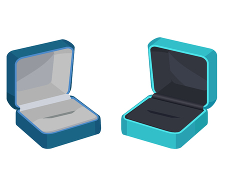 Concept of Two Gift Boxes for Ring or Earrings