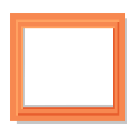 Realistic Dual Orange Frame Flat and Shadow Theme