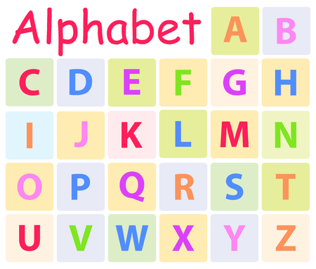 Multycolored Alphabet with 26 Capital Letters Icon