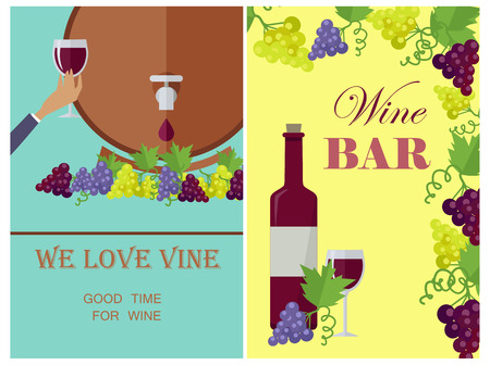 We Love Wine Template Poster with Attributes.