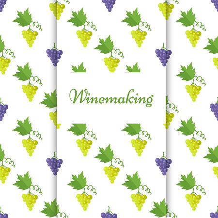 Winemaking Poster with Isolated Grapes Vector 向量圖像