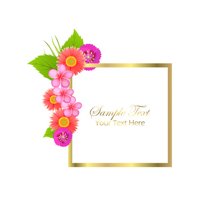 Cute Congratulation Postcard with Spring Flowers