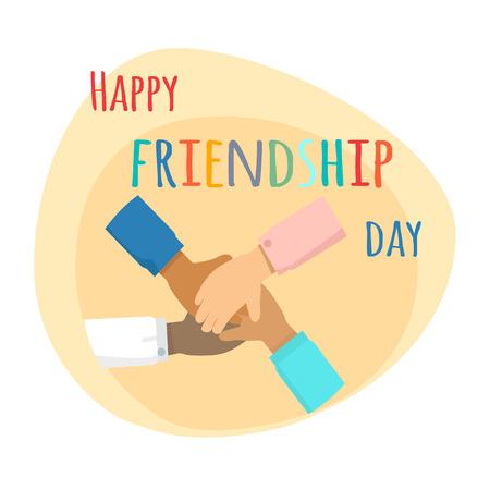 幸せな友情日。国際友好