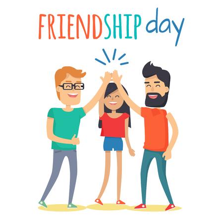 Friends Celebrating Friendship Day Vector Concept Reklamní fotografie - 88778530