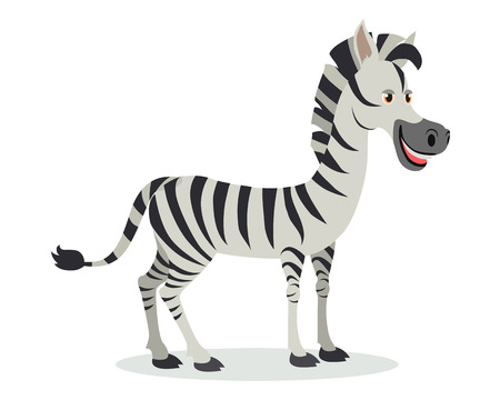 Zebra icône de bande dessinée dans la conception plate Banque d'images - 88778541