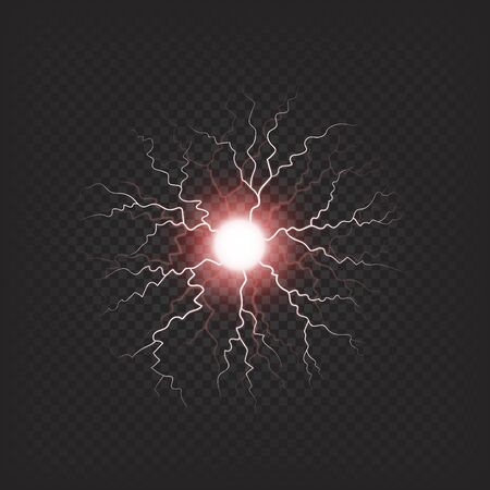 Colorful Electric Fireball Isolated Illustration