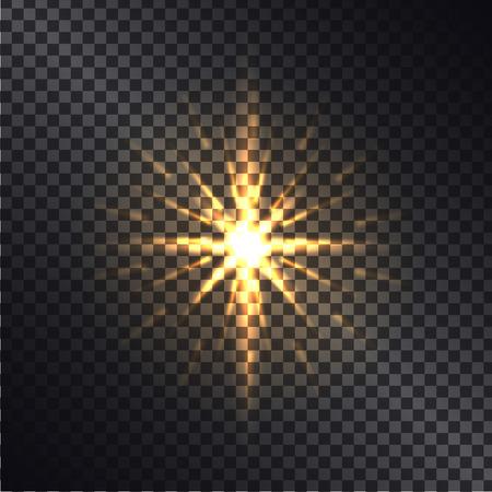 Bright Golden Shiny Sparkle Isolated Illustration