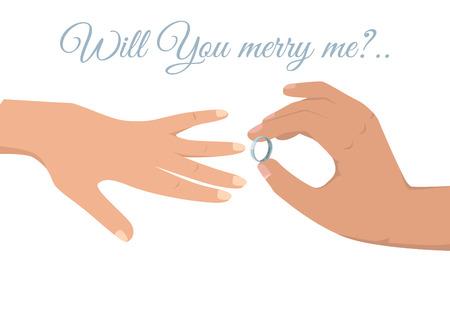 Lovely Wedding Ceremony Isolated Illustration