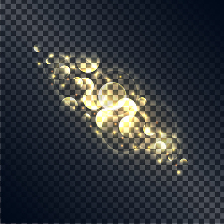 Shiny Bubbles Made of Light Isolated Illustration