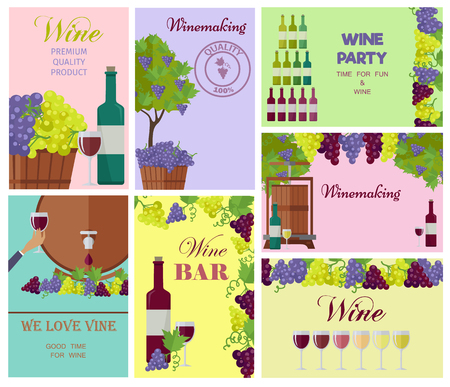 Winemaking Template Colorful Collage of Wine Drink