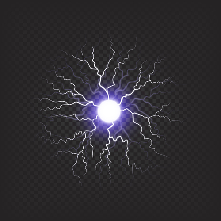 Bright Sniny Violet Fireball Isolated Illustration