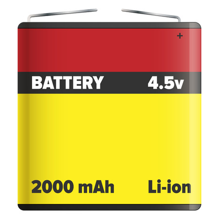Battery Pack Li-ion or Lithium-ion Isolated White