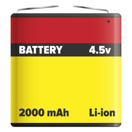 Bloc-batterie Li-ion ou blanc isolé au lithium-ion Banque d'images - 88839595