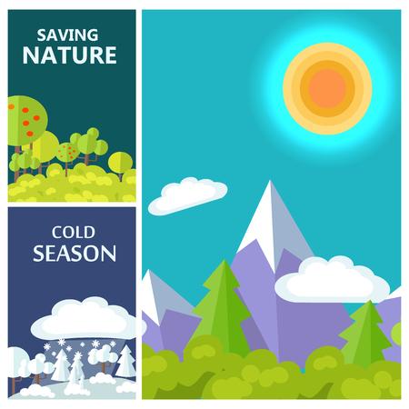 Saving Nature, Cold Season and Luxury Mountains