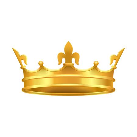 Gouden kroon met rode en blauwe stenen Close-up