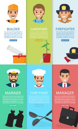 職業主題と六つの補助の要素カード