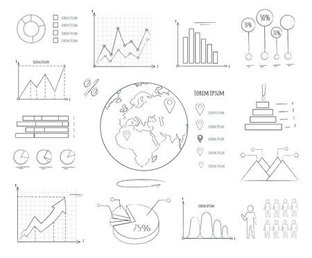 Graphics and Charts Black and White Templates