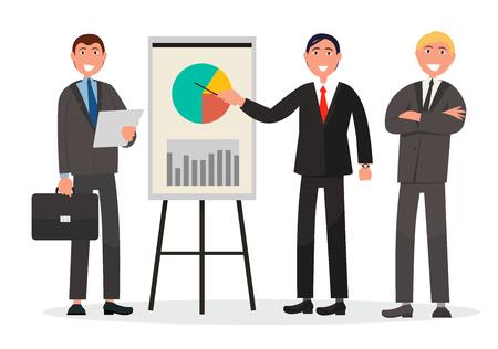 起業家のチームは、統計のプレゼンテーションを行います
