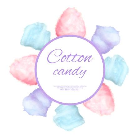 Bonbons en coton autour de bouton autour de sucre sucré Banque d'images - 89335656